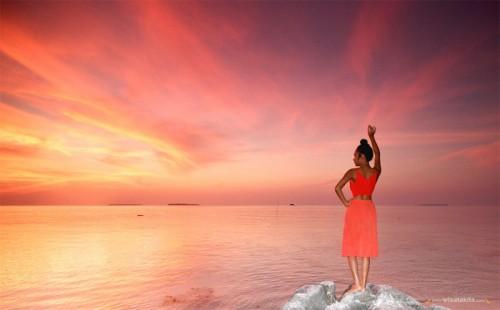 Sunset di Pantai Tanjung Gelam